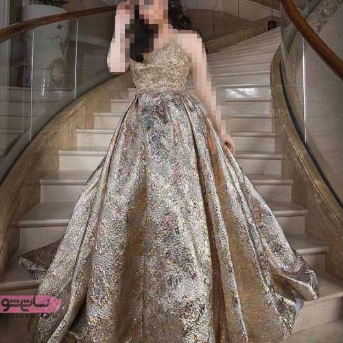 انواع جدید و زیبا از مدل لباس کار شده بلند زنانه