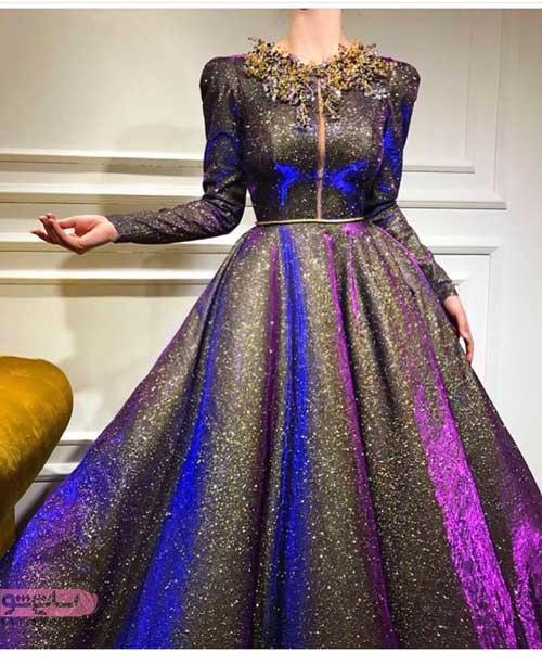 مدل لباس مجلسی 2019 لمه پفی جدید