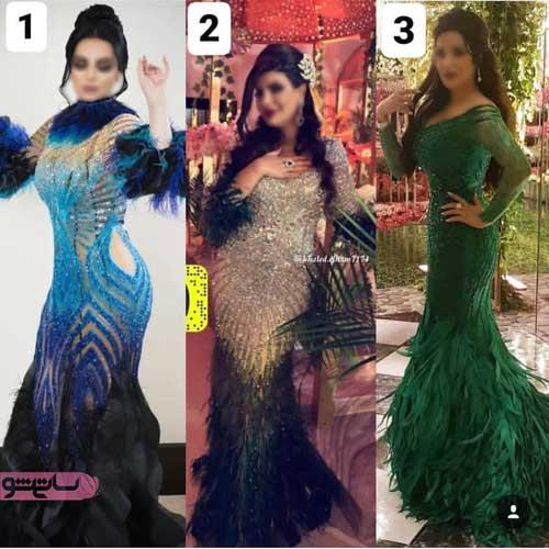عکس جدیدترین مدل لباس مجلسی زنانه شیک با گیپور