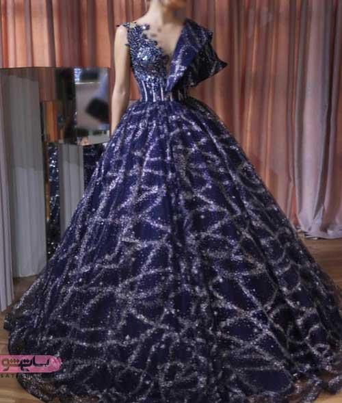 مدل لباس مجلسی دخترانه و زنانه شیک حاشیه دار