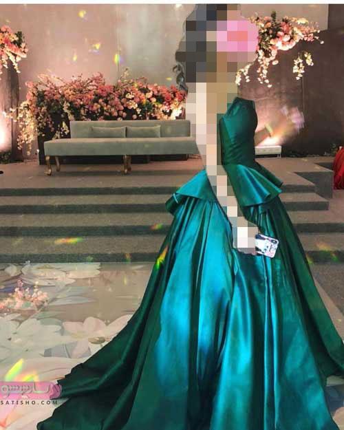 شیک ترین مدل لباس مجلسی 98 بدون آستین بلند