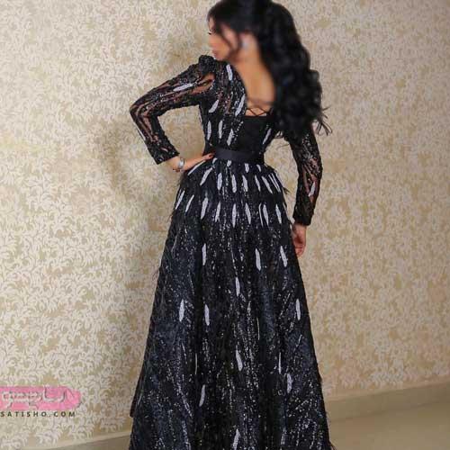 مدرن ترین مدل لباس مجلسی زنانه و دخترانه شیک با گیپور 2019