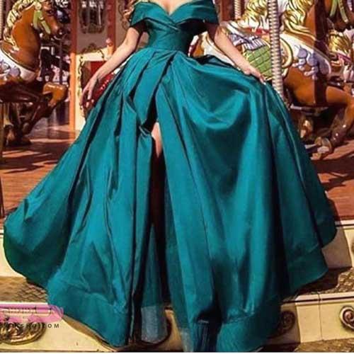 مدل لباسهای مجلسی زنانه 2019 بلند دنباله دار