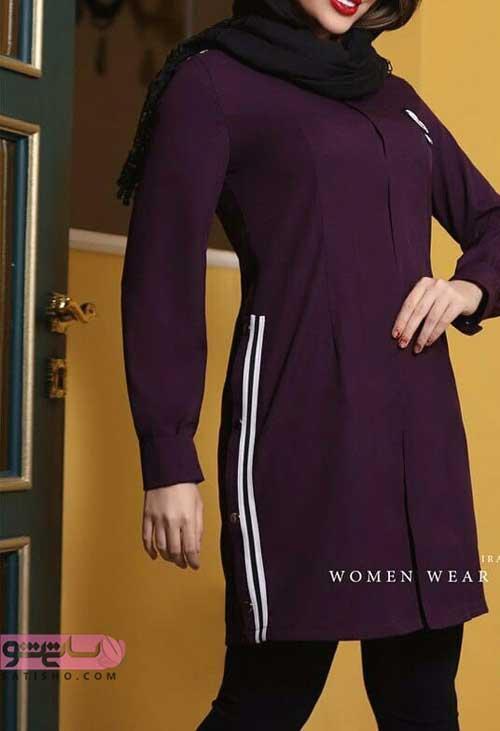 جذاب ترین مدل مانتو جلو بسته 98 اسپرت دخترانه تابستانه