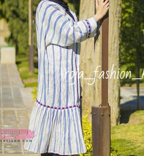 مدل مانتو تابستانی زنانه شیک و ساده جلوبسته