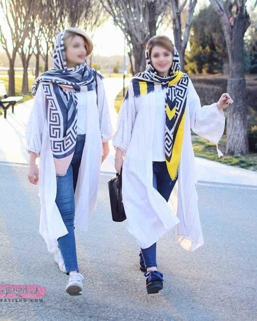 مدل مانتو عید جلوباز سفید