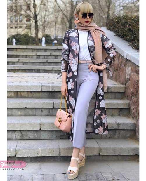 مدل مانتو تابستانه گلدار 98 و 2019