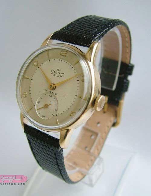 مدل ساعت طلایی مشکی مردانه