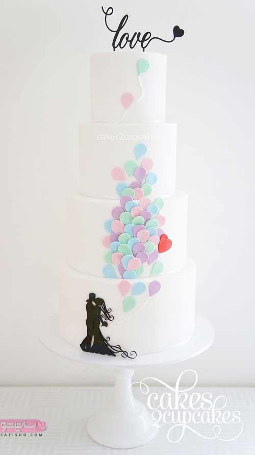 کلکسیونی از تزیین زیبا و جذاب کیک نامزدی