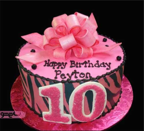 تزیین کیک تولد دخترانه 10 ساله