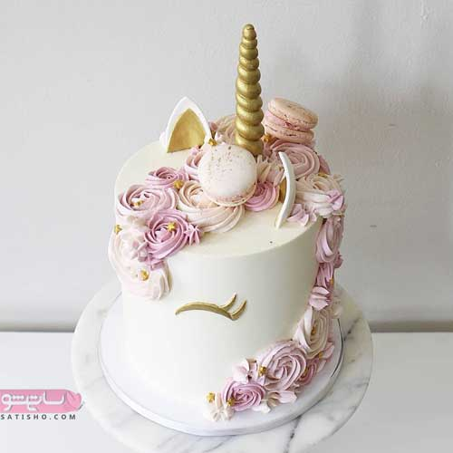 مدلهای جدید تزیین کیک 98 سفید رنگ دخترانه زیبا