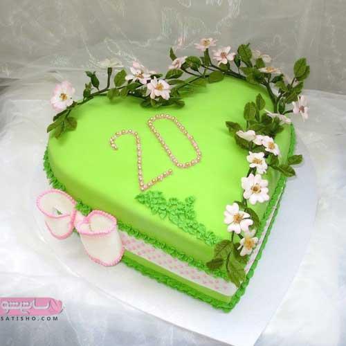 عکس از مدلهای متنوع تزیین کیک زنانه ساده