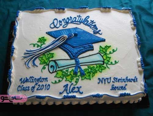 تزیین کیک برای جشن فارغ التحصیلی
