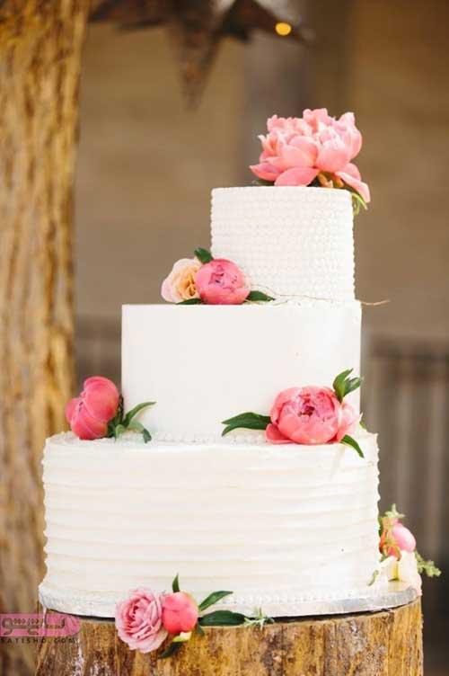 تزیین کیک چند طبقه برای عروسی