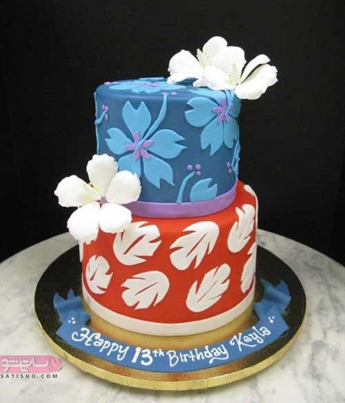 تزیین ساده کیک برای جشن تولد
