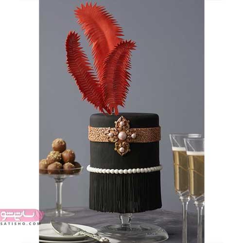 عکس تزیین کیک شکلاتی با ایدهای جذاب