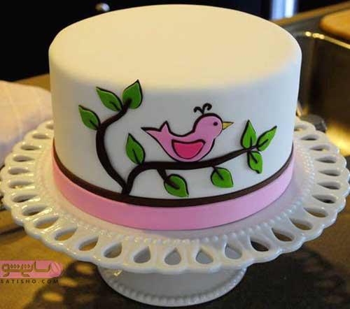 مدل تزیین کیک تولد با ژله و خمیر