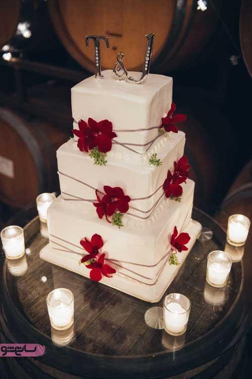 تزیین شیک و فانتزی کیک عروسی
