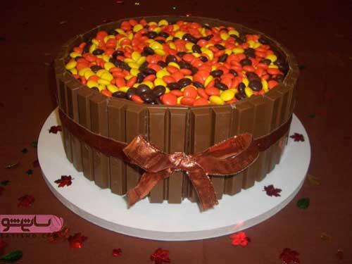 تزین کیک شکلاتی با خامه و بدون خامه