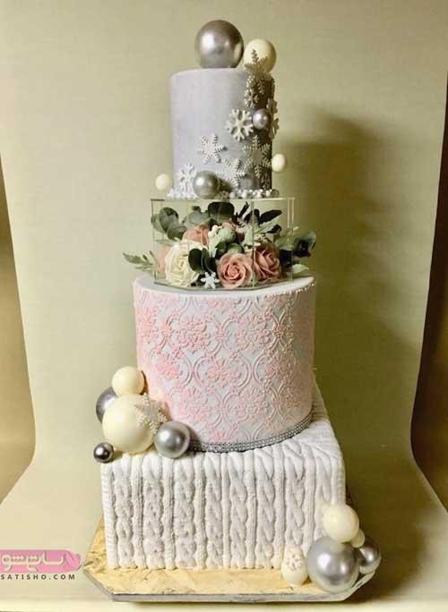 تزیین کیک مراسم عروسی با خمیر فوندانت