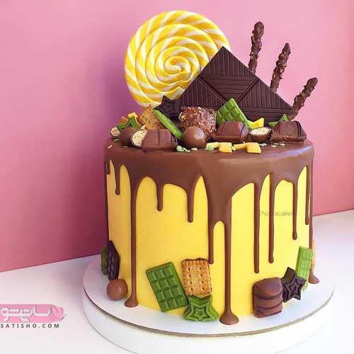 تزیین کیک تولد با طرح فانتزی