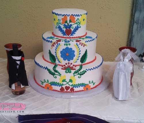 تزیین کیک جشن عقد عروس و داماد