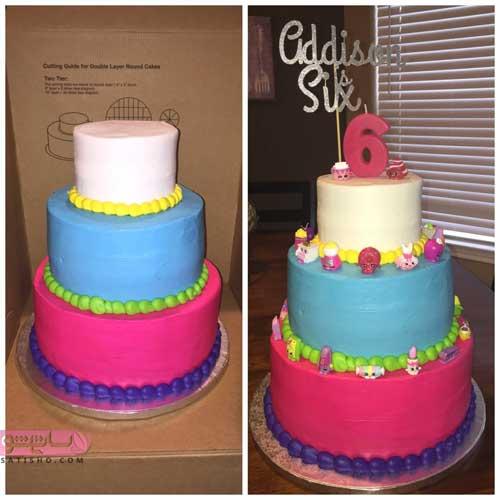 انواع تزیین کیک تولد رنگی رنگی مناسب کودکان