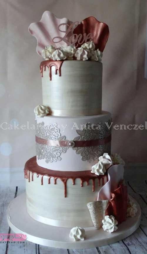 تزیین کیک عروسی با شکلات و طرح های جدید اروپایی