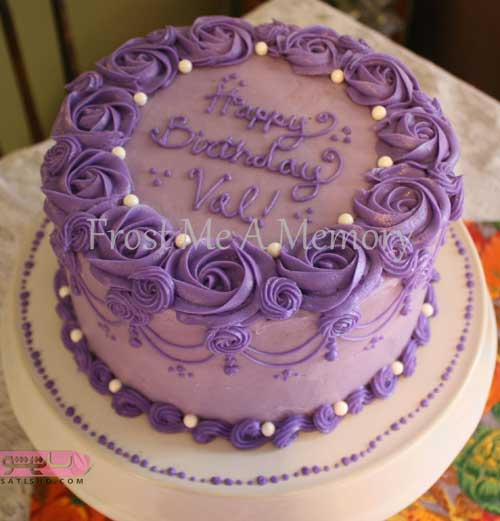 ایده های جدید و تزیین کیک تولد با تم بنفش رنگ