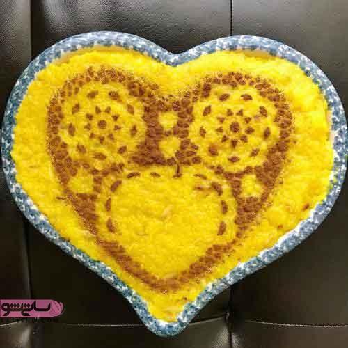 تزیین شله زرد با ایده کودکانه مناسب برا دسر