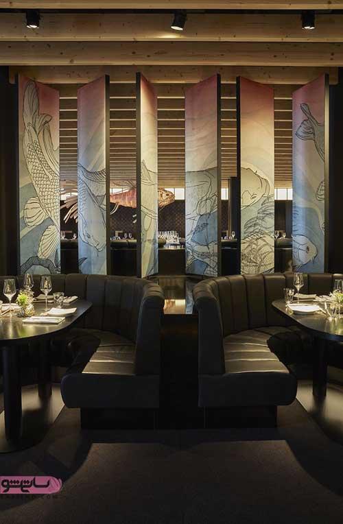 مدل دکوراسیون رستوران با تم شرقی و سنتی