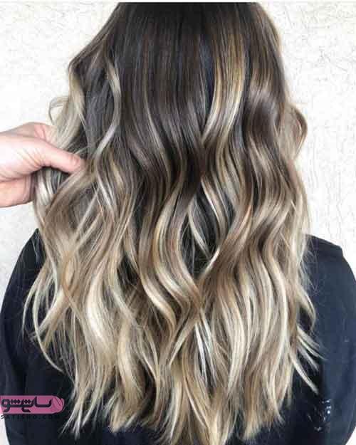 رنگ موهای امبره تیره و روشن تابستان