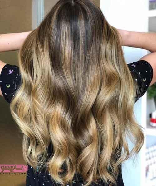 جدیدترین روش رنگ مو امبره شده تیره