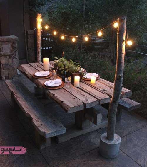 ساخت میز چوبی برای حیاط