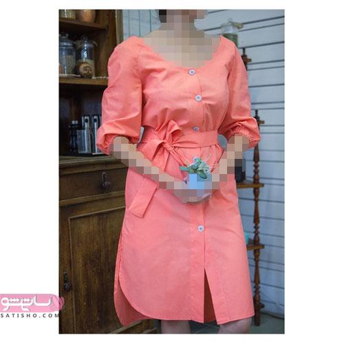 لباس مجلسی لختی مرجانی رنگ
