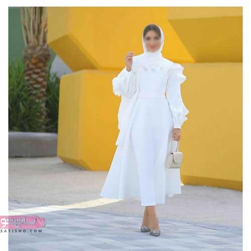 مدل مانتو سفید برای عقد محضری