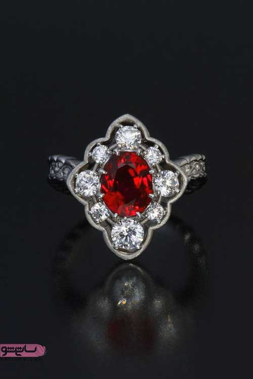 انگشتر زنانه با نگین یاقوت سرخ