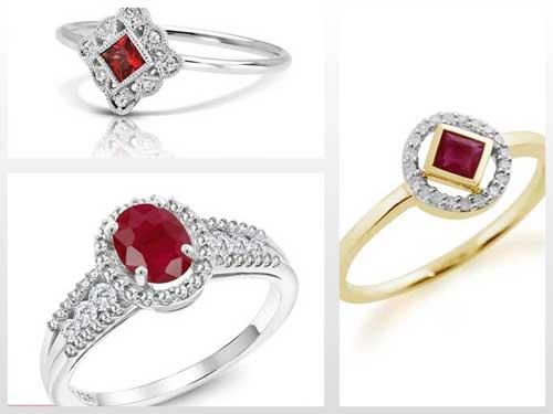 مدل انگشترهای یاقوت سرخ زنانه ظریف