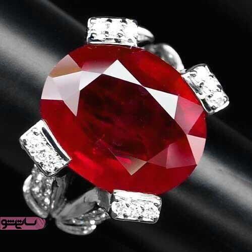 نگین بزرگ یاقوت سرخ برای انگشترهای زنانه