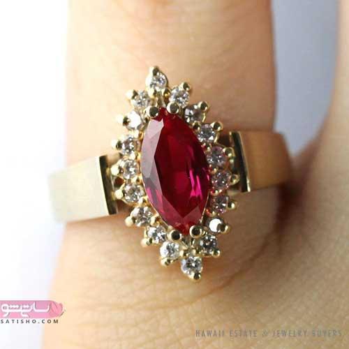 انگشتر دخترانه یاقوت قرمز