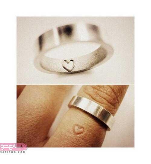 مدل حلقه استیل به شکل قلب