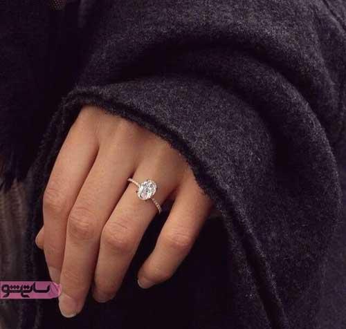 انگشتر نقره دخترانه با نگین شیک