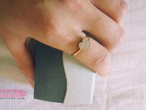 مدل انگشتر نقره دخترانه جدید ساده اروپایی