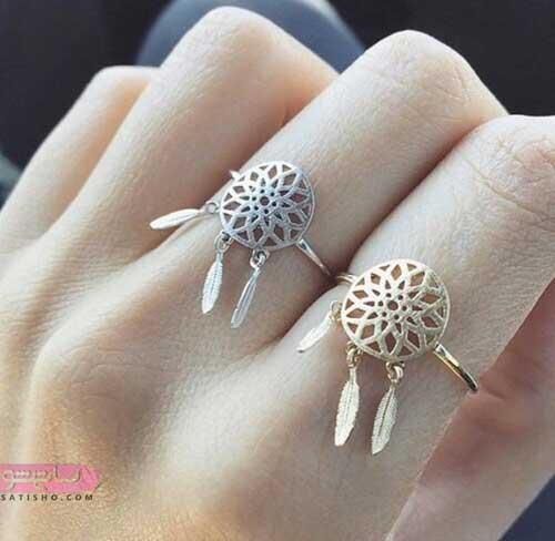 انگشتر دخترونه لاکچری نقره