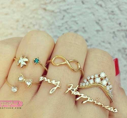 خرید انواع انگشترهای دخترانه فانتزی و بندانگشتی