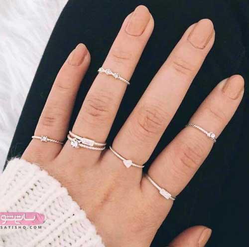 انگشترهای ظریف دخترانه در طرح های کلاسیک