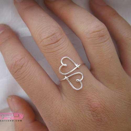 زیباترین مدل های انگشتر طلا و نقره دخترونه شیک نگین دار