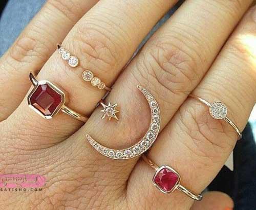 خاص ترین انواع انگشتر دخترانه شیک