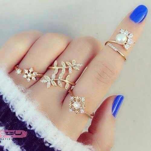 انگشتر های مروارید دار دخترانه خوشگل 98