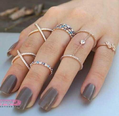مدل های جدید انگشتر طلا برای خانم ها